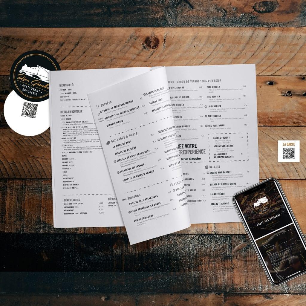 Rive Gauche Huy carte menu