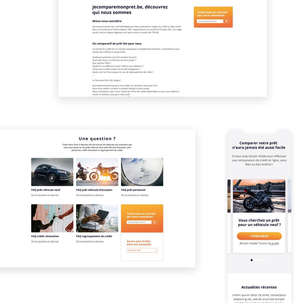Site web Jecomparemonpret.be