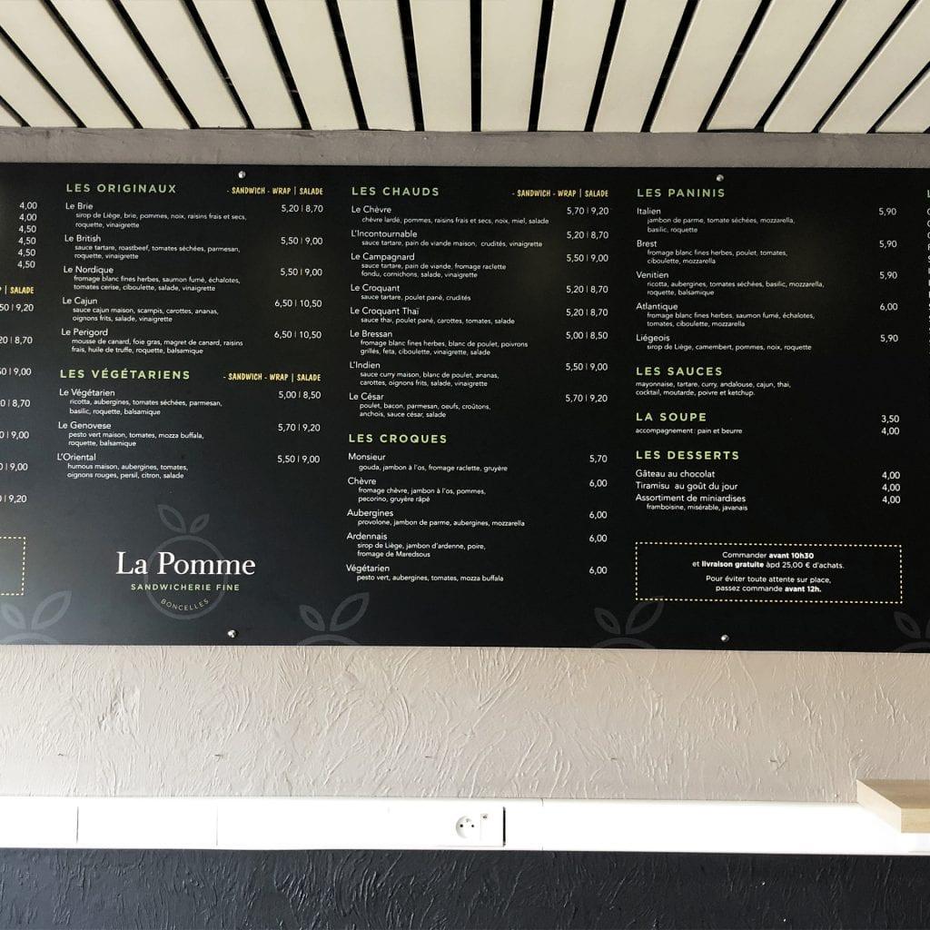 graphisme La Pomme sandwicherie boncelles