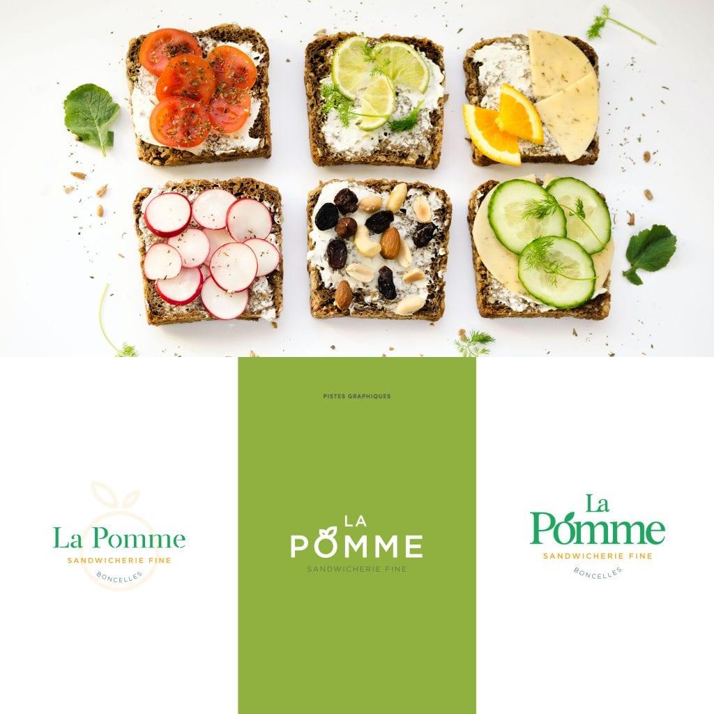 Logo La Pomme sandwicherie boncelles