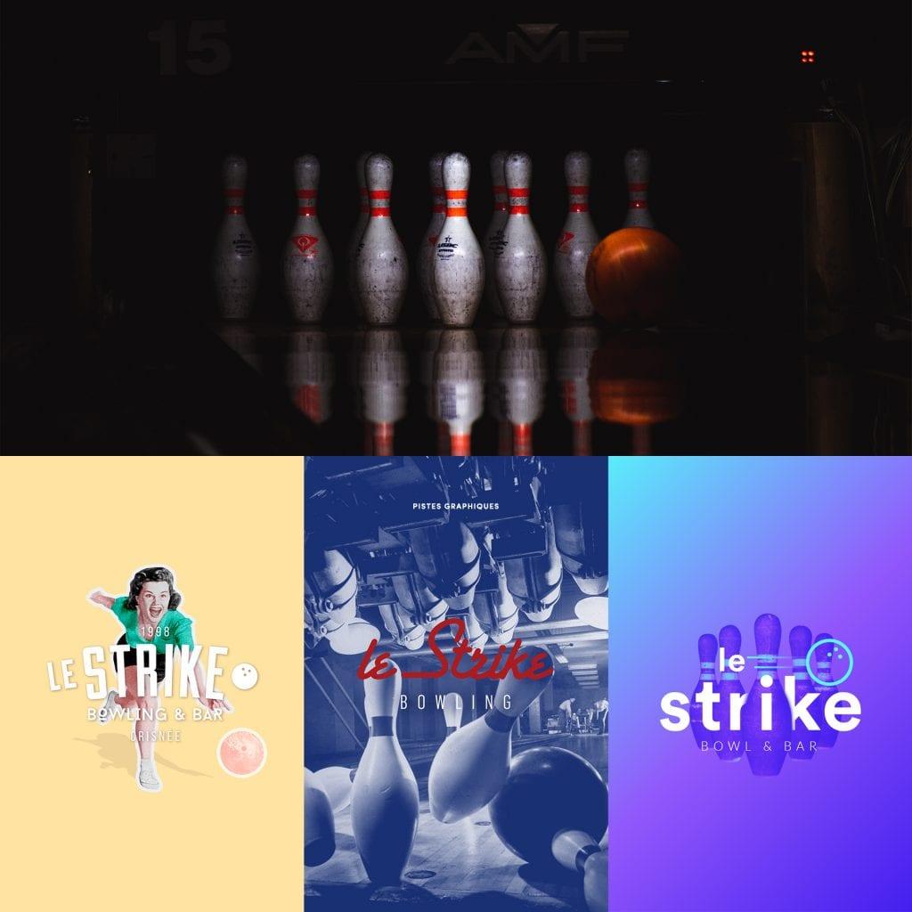 Le Strike Bowling logo