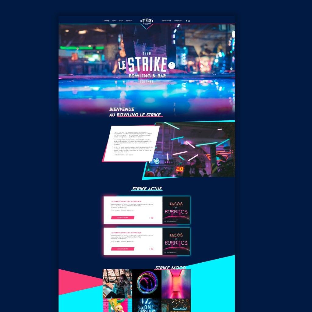 Le Strike Bowling site web