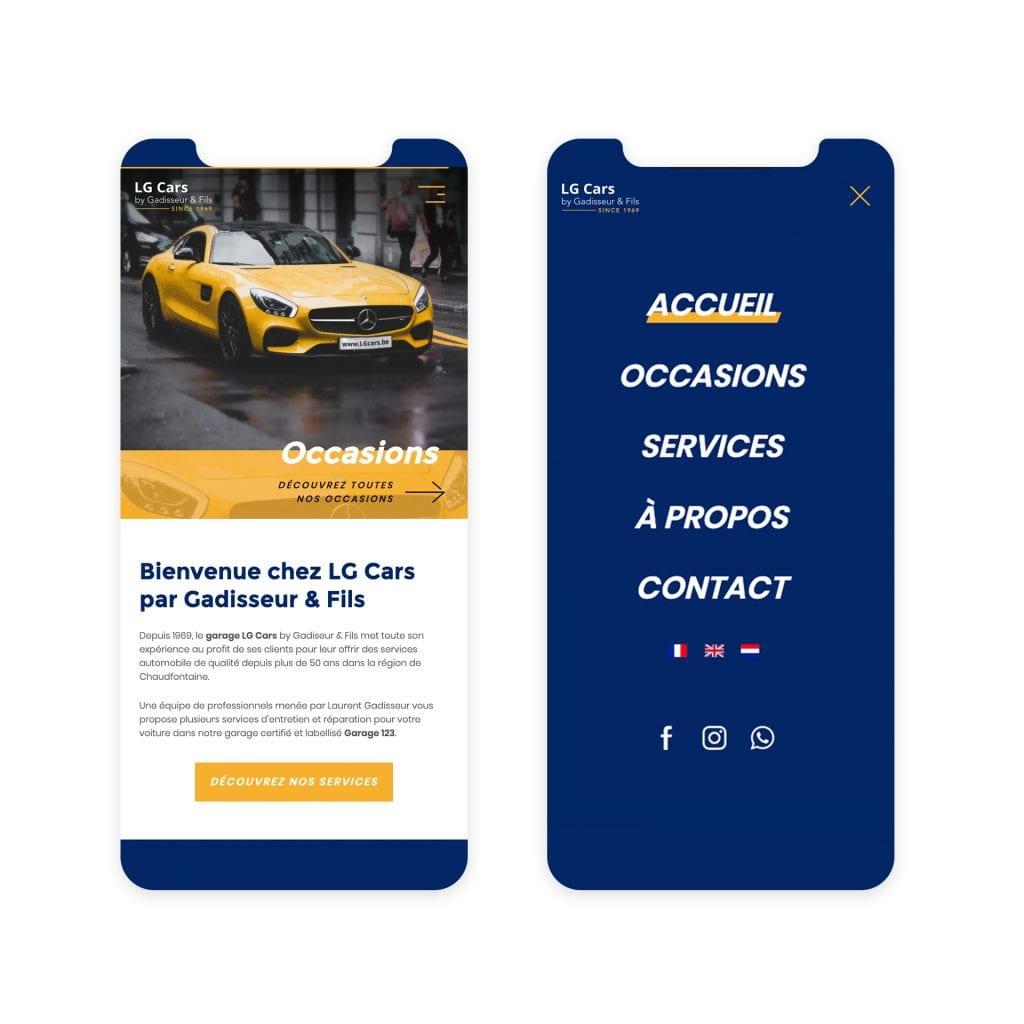 Site web garage LG Cars automobile liège