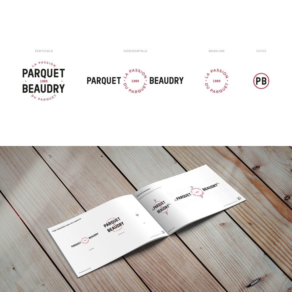 charte graphique Logo Parquet Beaudry Huy