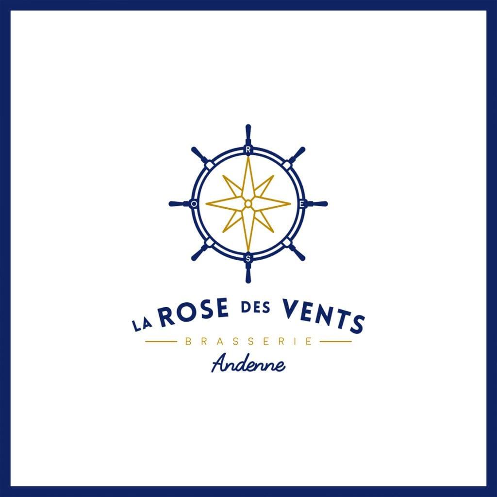 logo brasserie la rose des vents andenne