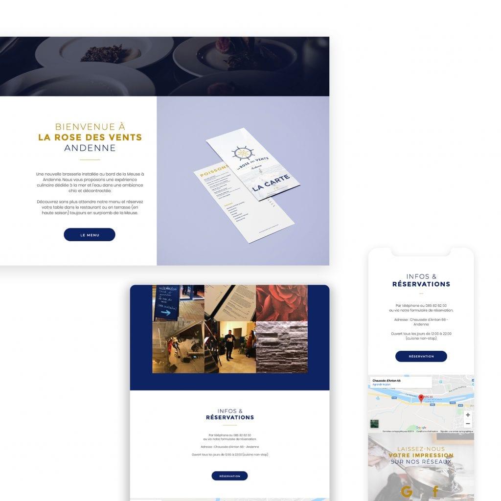site web brasserie la rose des vents andenne