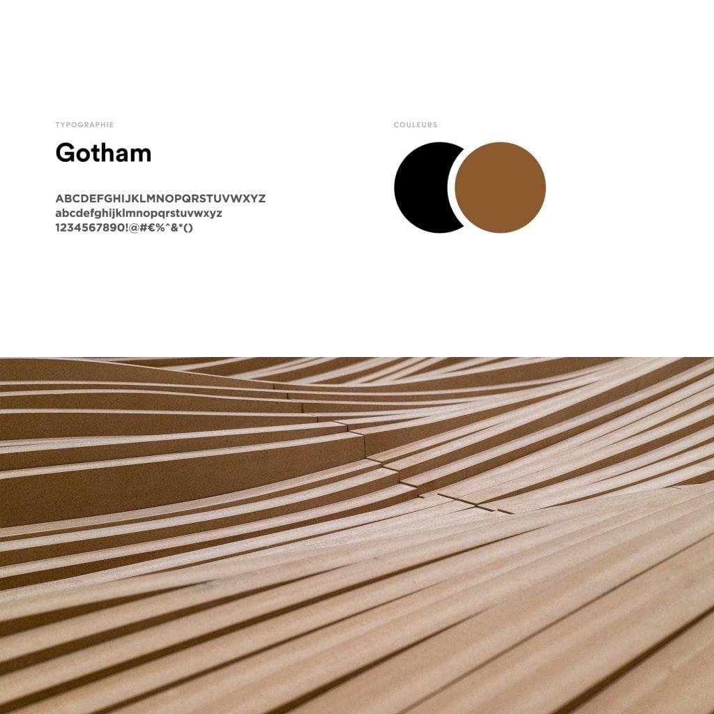 Charte graphique de couleur et typographie