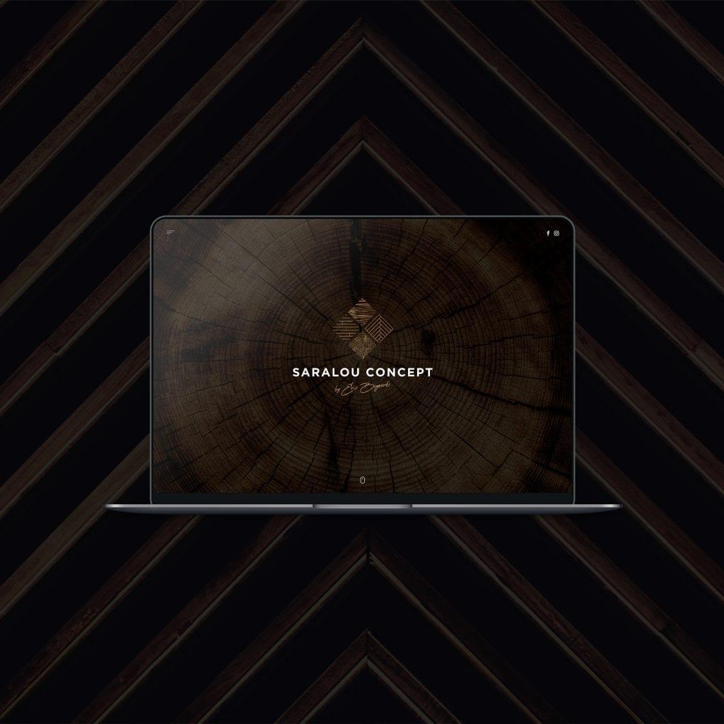 site web menuiserie saralou concept