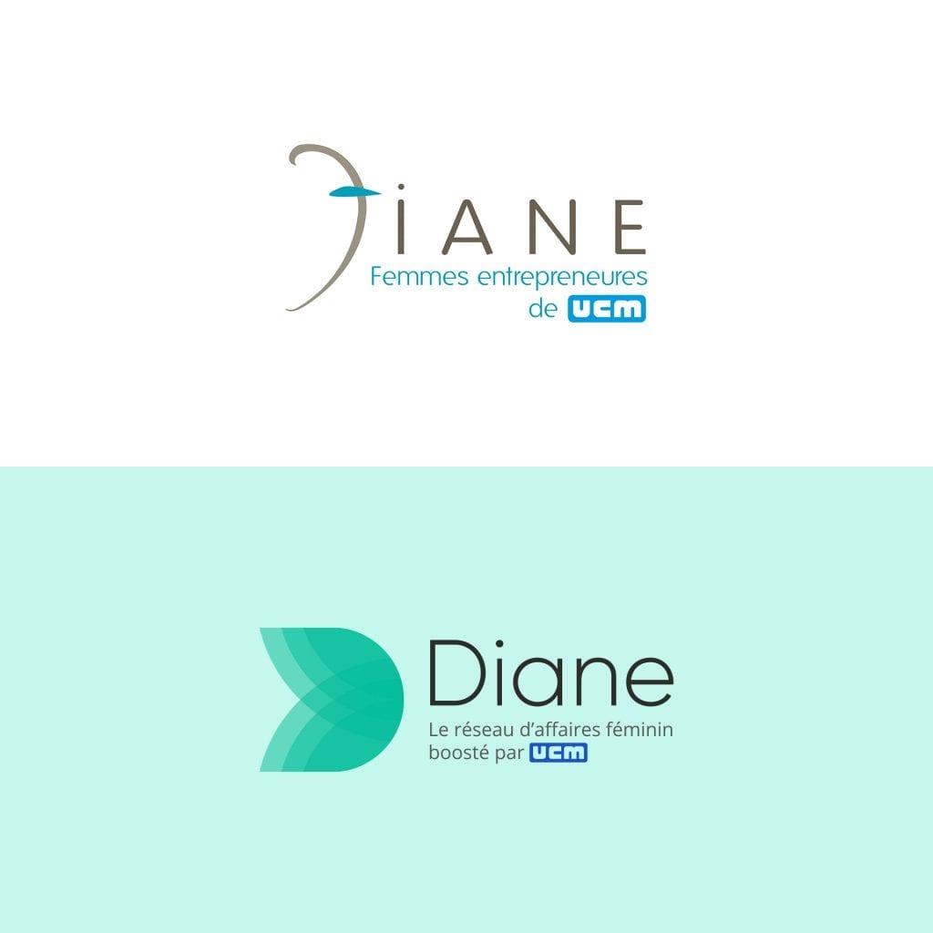 Diane logo fleche