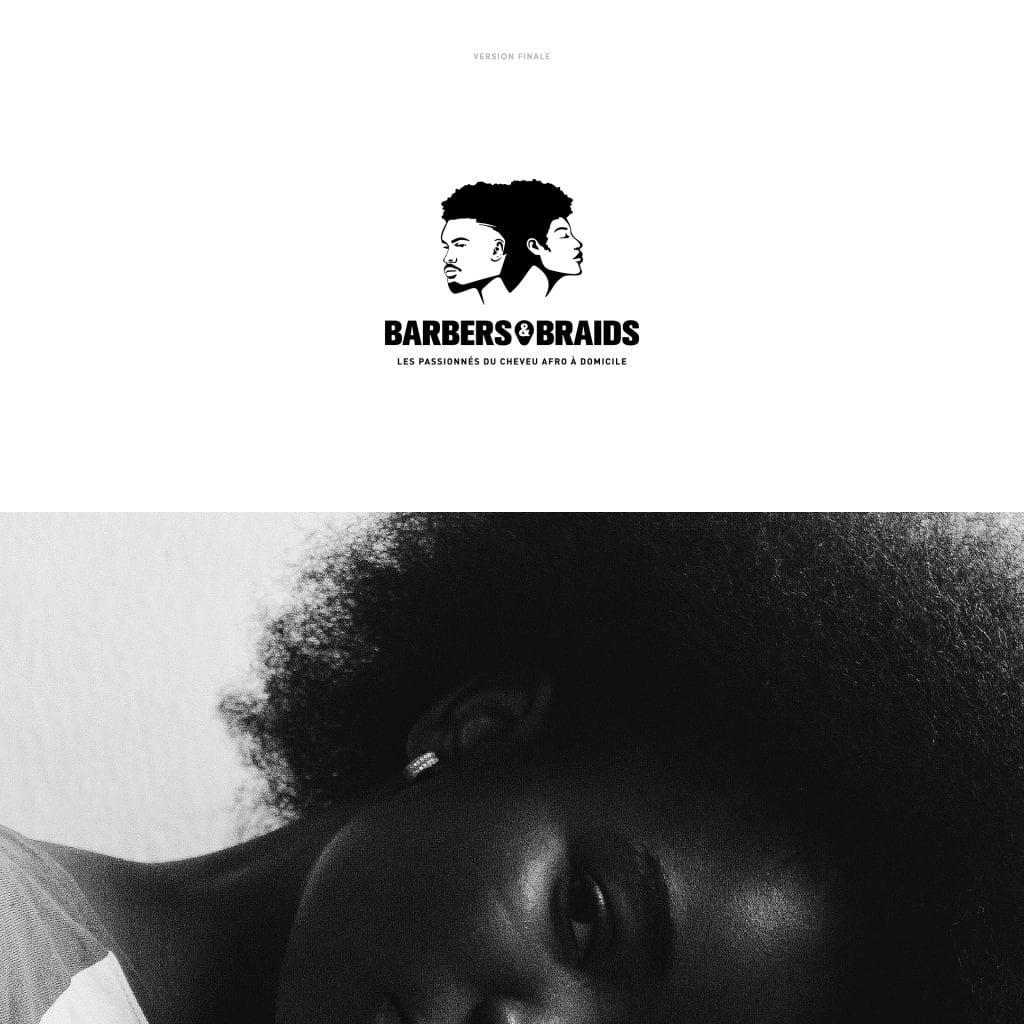Barbers and braids logo