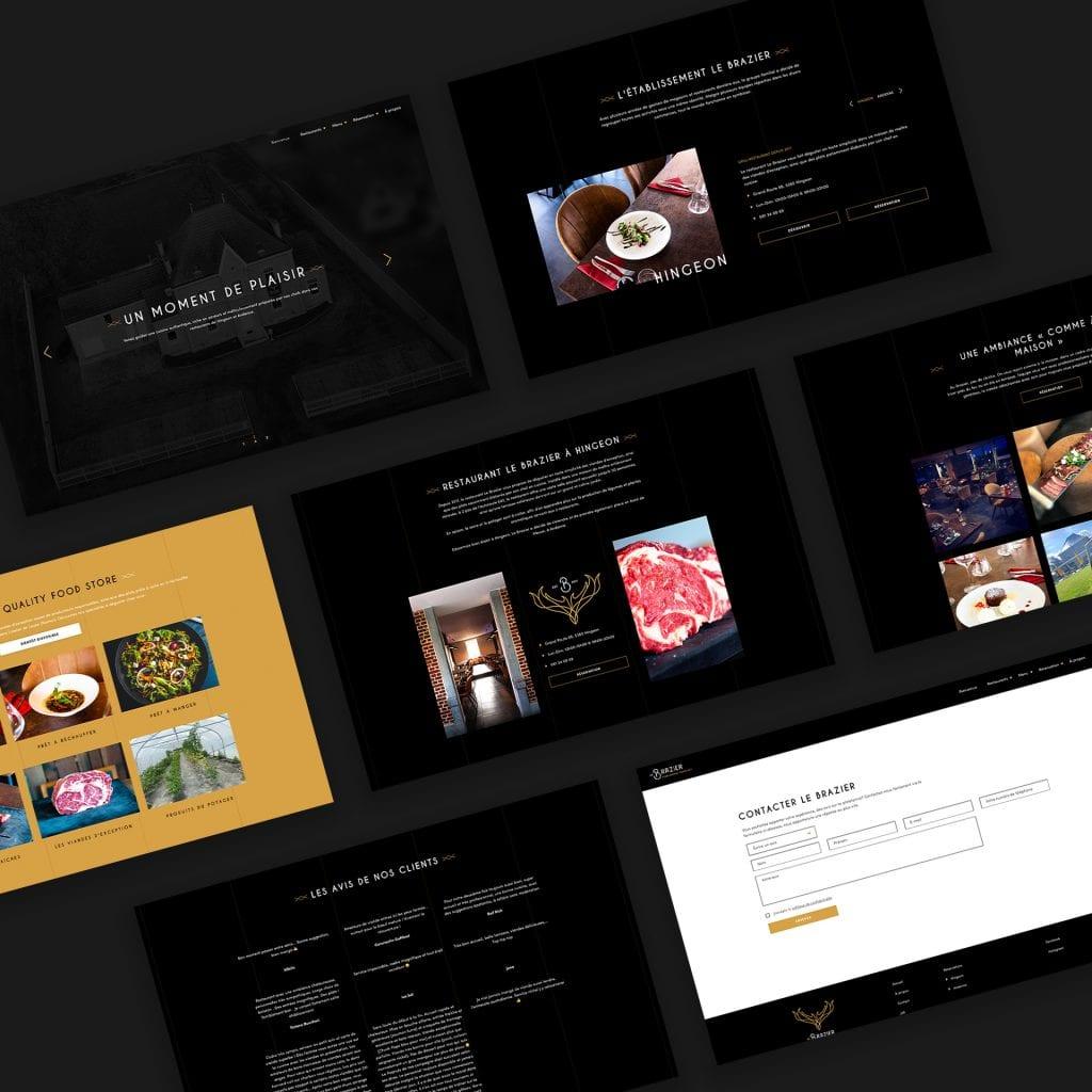 Le Brazier site web