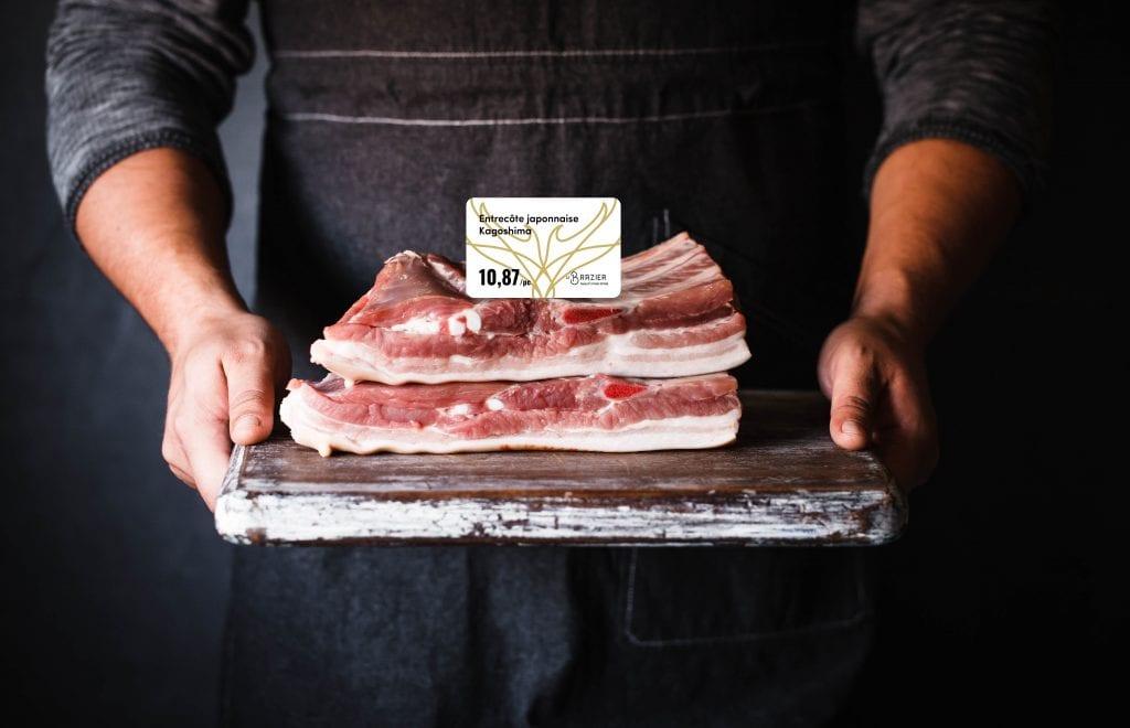 Le Brazier etiquette viande