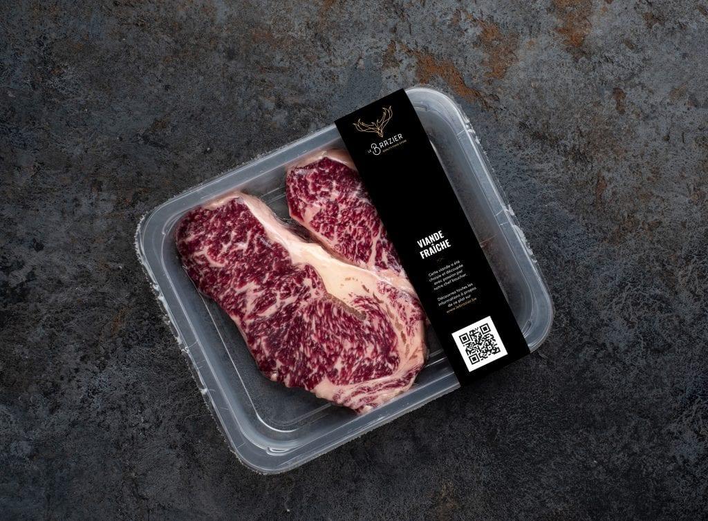 Le Brazier packaging viande