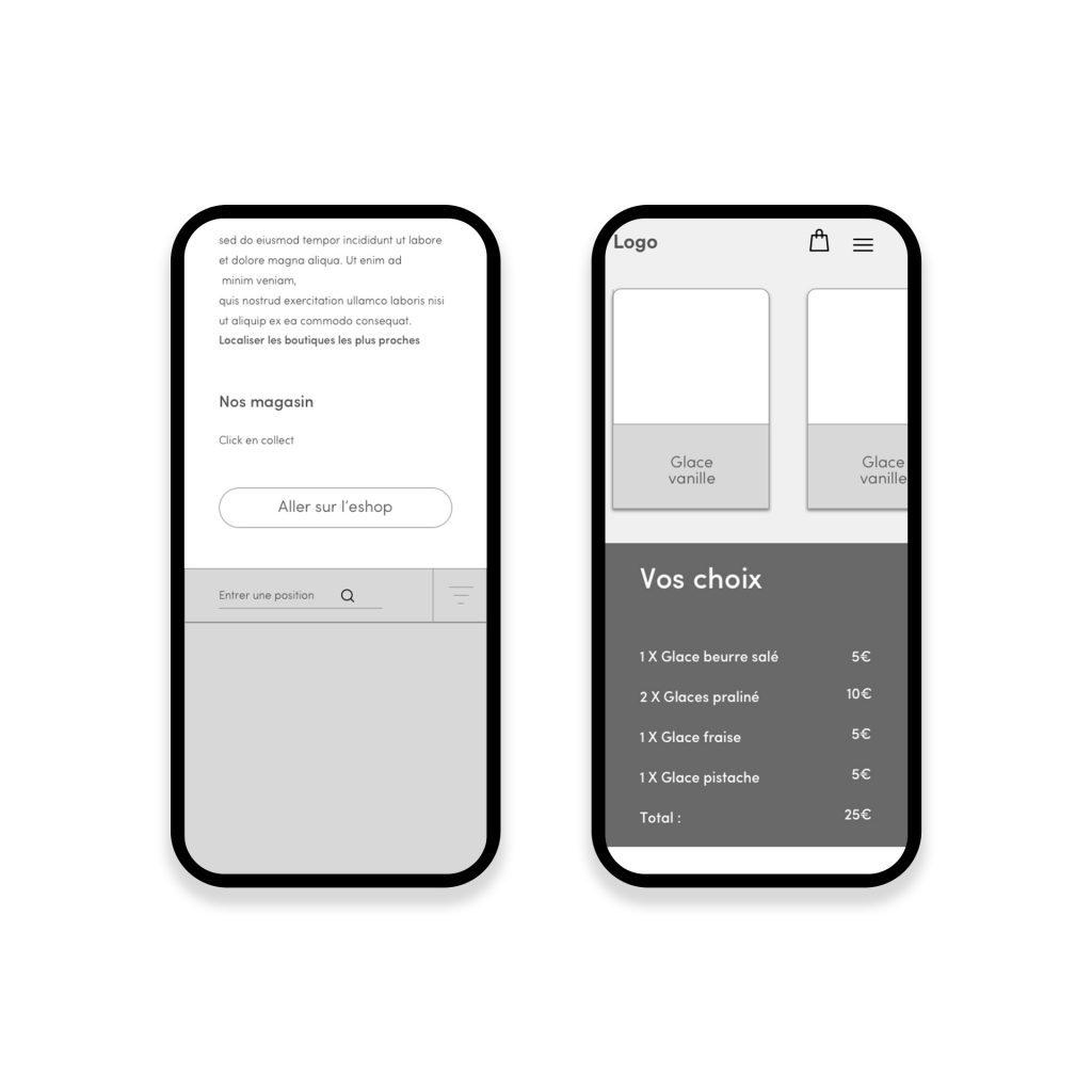 wireframe site web